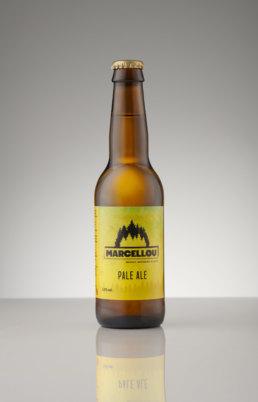 Packshot d'une bouteille de bière de la brasserie Marcellou
