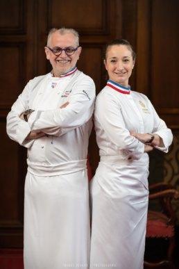 Portrait des chefs MOF Joseph Viola et Virginie Basselot