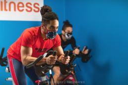Photographie du masque Sport CERAMIQ dans une salle de sport